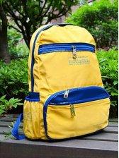 Vogued Men Zipper Detail Color Block Backpack