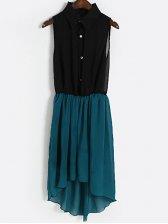 Classic Look Sleeveless Chiffon Maxi Dress