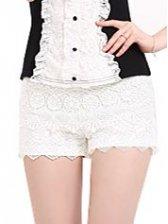 Korean Style Hook Flower Sequin Short Pants