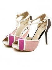 Korean Fashion Rubber Sole Pink PU Sandals