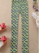 Hot Sale Retro Print Stretchable Elastic Waist Long Leggings