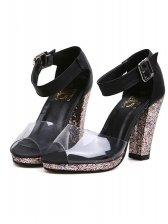 Sweet Girl Open-toe T-buckle PU Sandals