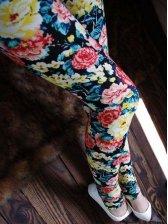 Hot Trendy Black Floral Print Leggings