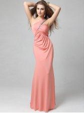 Chic Party Diamonds Studded One Shoulder Asymmetrical Evening Dress