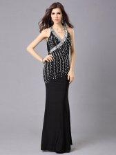 Summer Party Elegant Sequin Studded Plunging V-Neck Dress