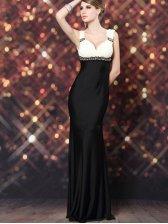Noble Party Diamonds Lace Patch Deep V  Evening Maxi Dress