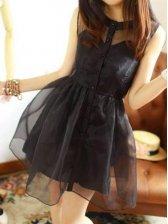 New Fashion Nature Waist Sleeveless Dress