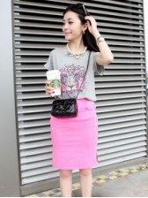 New Fashion Tiger Print Round Collar Short Sleeve Dress