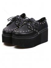Hot Sale Round Toe Bubble Sole Rivets PU Shoes