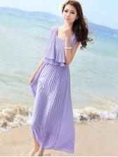Sweet Girl Seaside Solid Color Cozy Dress