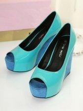 Hot Sale Composite Sole Color Block PU Sandals