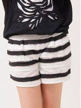 Hot Summer Natural Waist Striped Short Pants