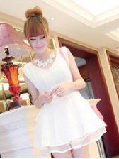 Sweet Girls Side Lace Up V-neck Sleeveless Dress