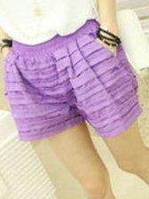 Brand New Elastic Waist  Mini Shorts