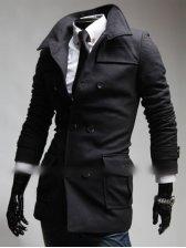 Korean New Double Breasted Long Sleeve Coat