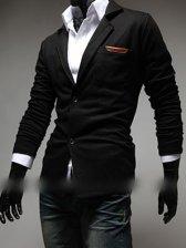 Modern Man Two Button Turn Collar Suit