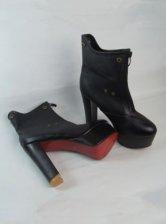 New Arrival Hot Sale Zipper Chunky Heels Pump Boots