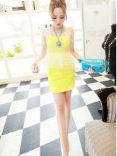 Vogue Ladies Fake Two-piece Sleeveless Dress