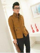 Autumn New Stand Collar Pocket Zipper Jacket