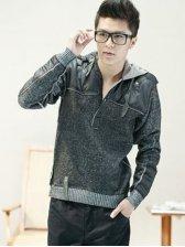 Stylish Man Drawstring Tie Thickening Sweater