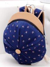 New Arrival Flower Print Color Block Backpack