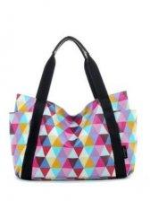 New Arrival Colorful Diamond Print One Shoulder Bag