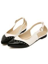 2013 Latest Fashion Color Block Sharp Toe Flat Sandals