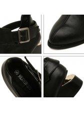 Korean Fashion Composite Sole Pointed Toe PU Shoes