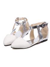 Pretty Girl Composite Sole Flat Heels PU Shoes