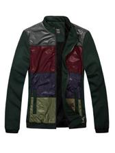 New Trendy Men Color Block Casual Jacket Coat