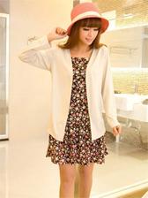 Korean Style Short Coat&Straps Dress Two-piece Set