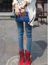 New Fashion Pure Color Natural Waist Velour Leggings