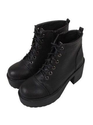 Korean Style Bandage Platform Chunky Heel Shoes