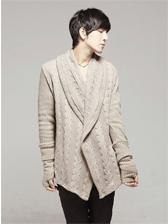 Men Individual Tailoring Front Open Sweater Coat