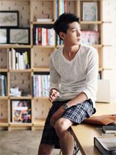 Fashion Man Long Sleeve V-Neck Tee