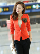 Fashion New Round Neck Suit With Corsage