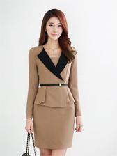 Hot New V-Neck Dress With Belt