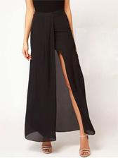 Hot Summer Natural Waist Chiffon Long Skirt Free Shipping