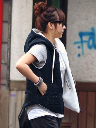 Brand New Winter Hooded Zipper Dark Blue Waistcoat
