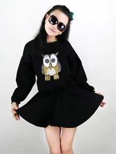 Korean Style Tunic Cotton Long Sleeve Dress