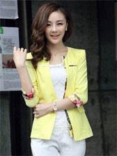 2013 Fashion One Button Floral Patched Suit