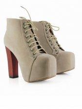 Modern Trendy Chunky Heel Square Toe Boots