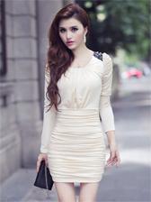 Romantic Lady Ruffled Wrap Long Sleeve Dress