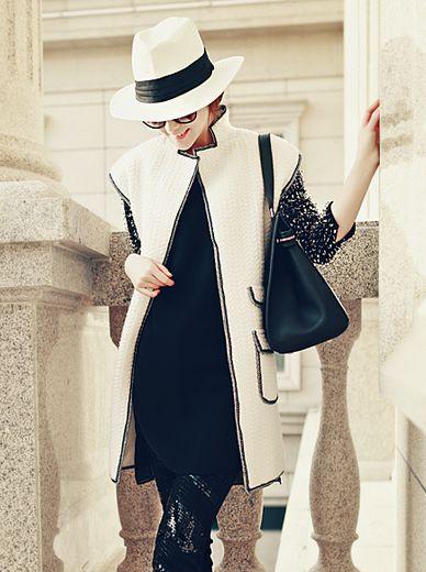 Hot Trendy Stand Collar Pocket Long Coat