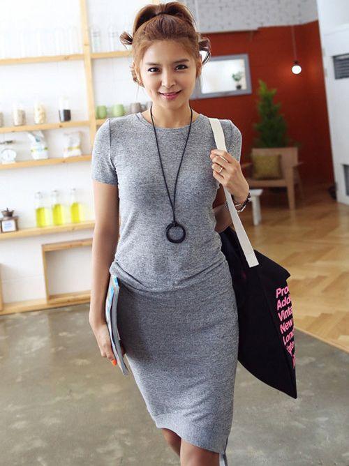 Hot Fashion Asymmetrical Hem Two-Piece Dress