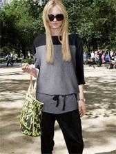New Modern Color Block Tee&Long Pants Activewear