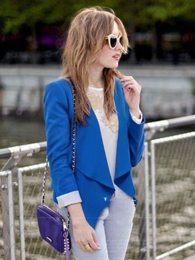 2013 Fashion Asymmetrical Long Sleeve Suit