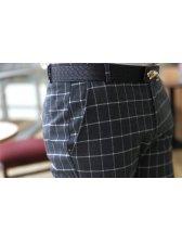 2013 Autumn Men Plaid Pattern Cotton Long Pants