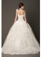 Ball-Gown One Shoulder Court Train Wedding Dress