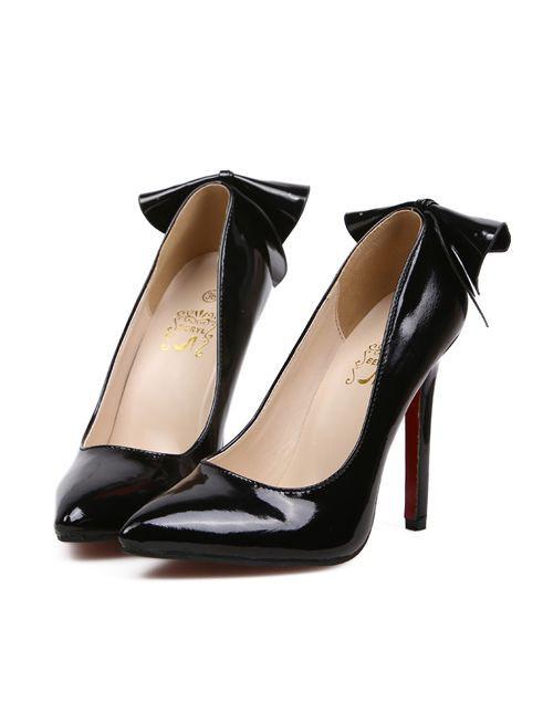 New Arrival Sexy Sharp Toe Bowknot Thin Heels Shoes